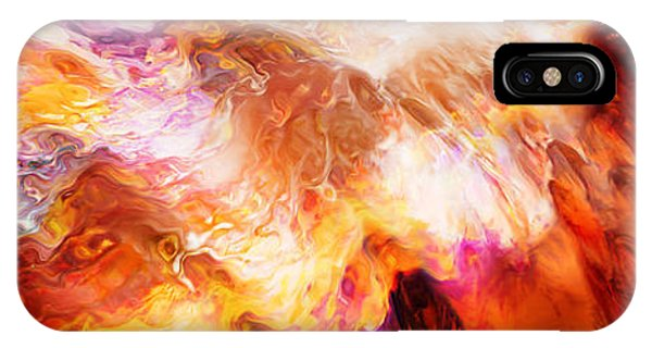 IPhone Case featuring the mixed media Desire - Abstract Art by Jaison Cianelli