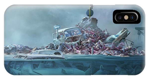 Zombies iPhone Case - Destruction Of The Environment by Sulaiman Almawash