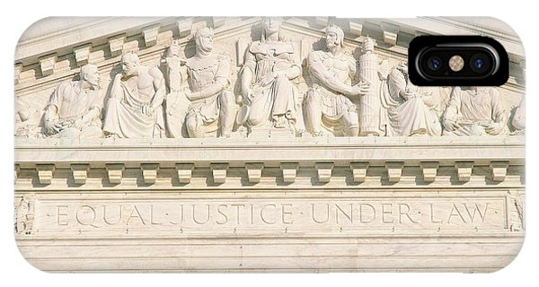 Equal iPhone Case - Detail From Supreme Court Building by Panoramic Images