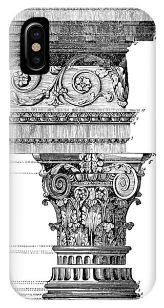 Detail Of A Corinthian Column And Frieze I IPhone Case