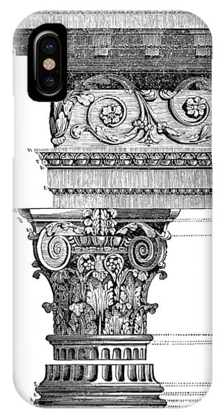 Detail Of A Corinthian Column And Frieze II IPhone Case