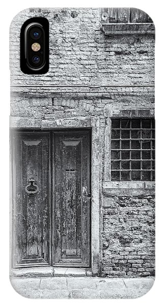 Detail Of Old Facade In Venice Phone Case by Francesco Rizzato