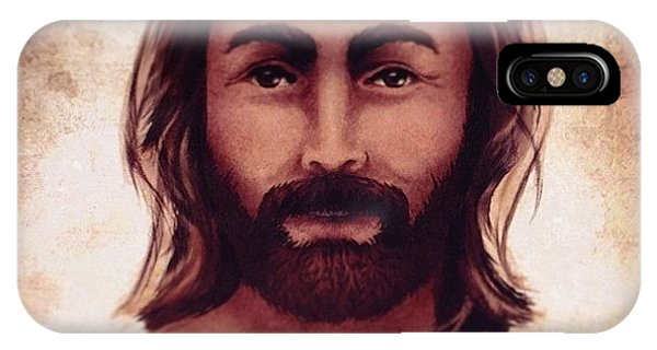Love iPhone Case - Portrait Of Jesus by April Moen