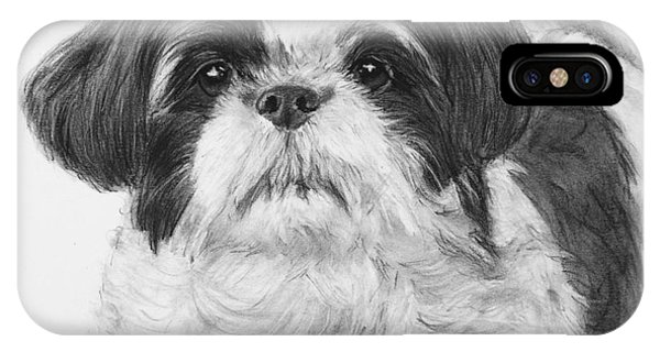 Detailed Shih Tzu Portrait IPhone Case
