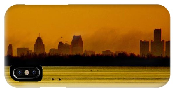 Detroit At Dawn IPhone Case