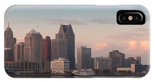 Renaissance Center iPhone Case - Detroit At Dusk by Andreas Freund