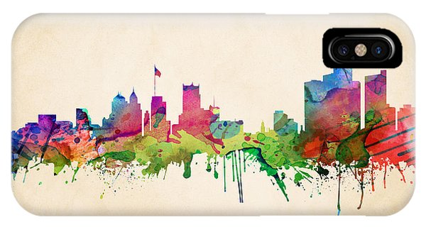 Detroit Cityscape IPhone Case