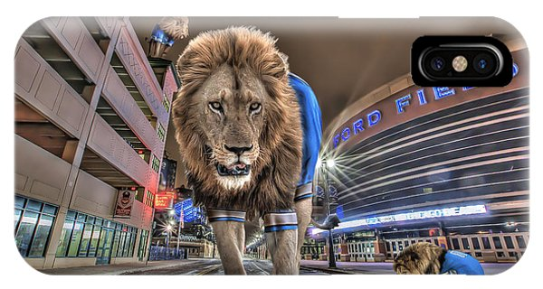 Detroit Lions At Ford Field IPhone Case