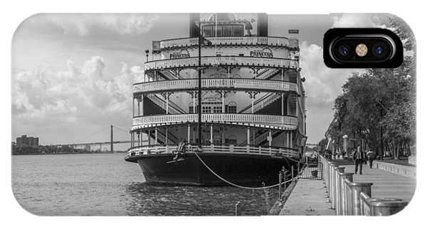 Detroit River Princess Black And White  IPhone Case