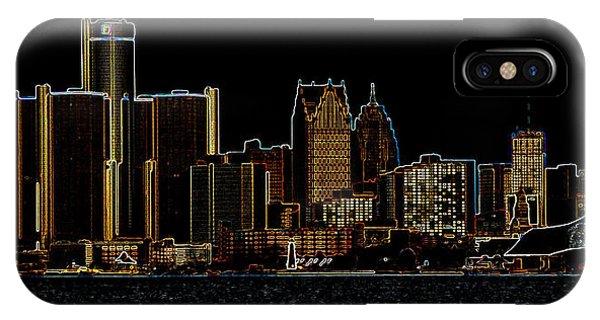Detroit Skyline IPhone Case