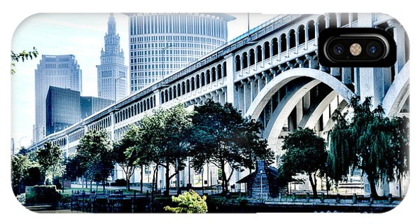 IPhone Case featuring the photograph Detroit-superior Bridge - Cleveland Ohio - 1 by Mark Madere
