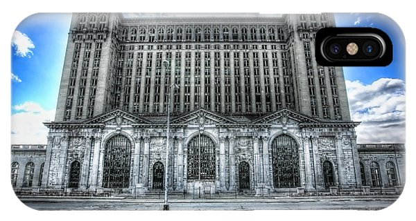Urban Decay iPhone Case - Detroit's Abandoned Michigan Central Train Station Depot by Gordon Dean II