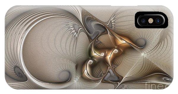 Fractal Geometry iPhone X Case - Deus Ex Machina by Karin Kuhlmann