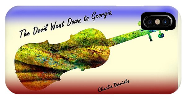 Devil Went Down To Georgia Daniels Fiddle  IPhone Case