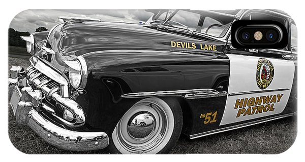 Devils Lake Highway Patrol - '51 Chevy IPhone Case