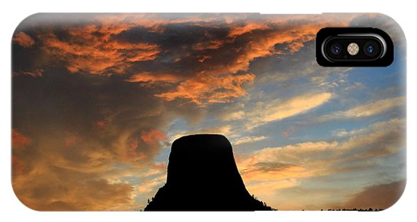 Devil's Tower Sunset IPhone Case