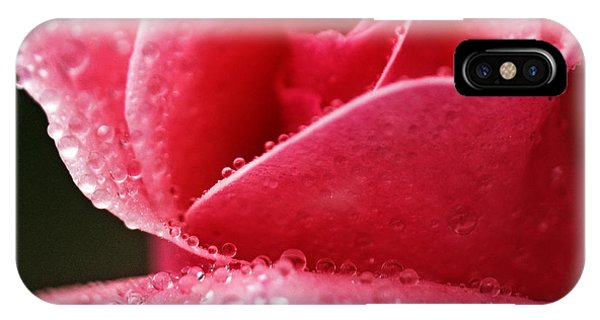 Dew Drops On Pink IPhone Case