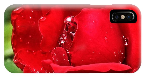 Dew Drops On Red IPhone Case