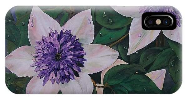 Clematis After The Rain IPhone Case