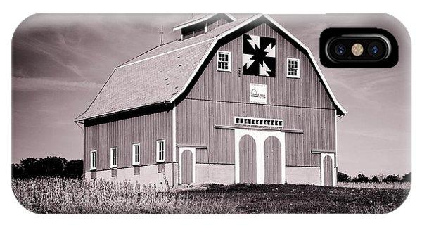 Dewitt County Barn B And W IPhone Case