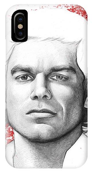 Illustration iPhone Case - Dexter Morgan by Olga Shvartsur