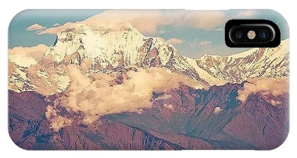 Beautiful Sunrise iPhone Case - Dhaulagiri,  8167m by Raimond Klavins