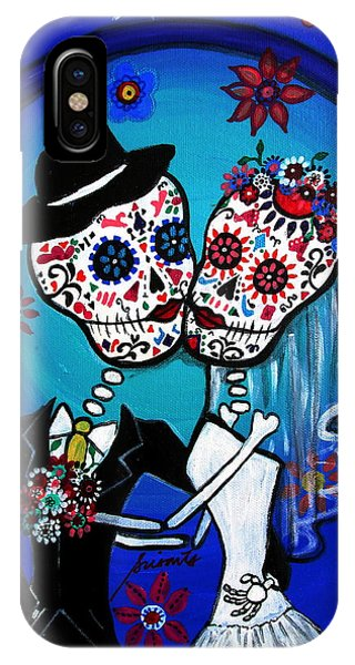 Dia De Los Muertos Kiss The Bride IPhone Case