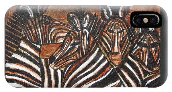 Zebra Bar Crowd IPhone Case