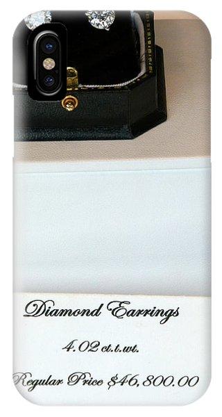 Diamond Earrings On Sale IPhone Case