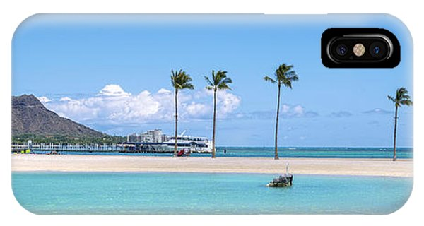 Diamond Head And The Hilton Lagoon 3 To 1 Aspect Ratio IPhone Case