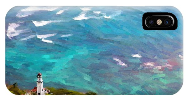 Diamond Head Lighthouse View IPhone Case