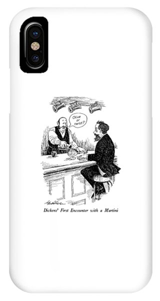 Dickens' First Encounter With A Martini IPhone Case