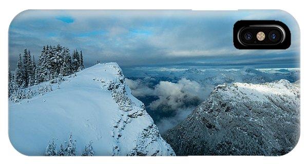 Treeline iPhone Case - Dickerman Peak by Ryan McGinnis