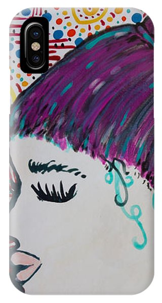IPhone Case featuring the painting Did You See Her Hair by Jacqueline Athmann