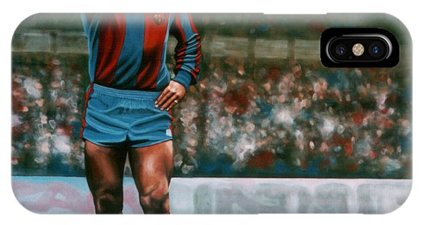 20th iPhone Case - Diego Maradona by Paul Meijering