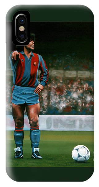 Barcelona iPhone Case - Diego Maradona by Paul Meijering