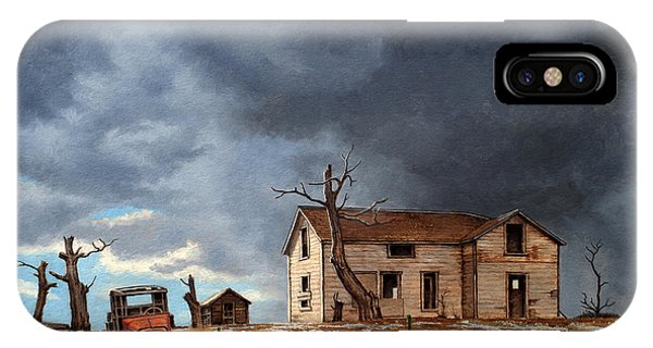 Truck iPhone X Case - Different Day At The Homestead by Paul Krapf