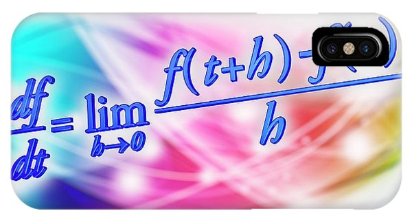 Calculus iPhone Case - Differential Calculus Equation by Alfred Pasieka