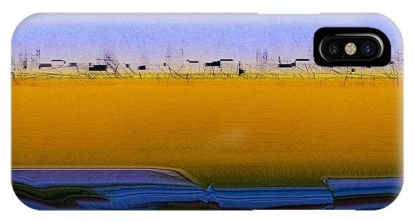 Digital City Landscape - 2 IPhone Case