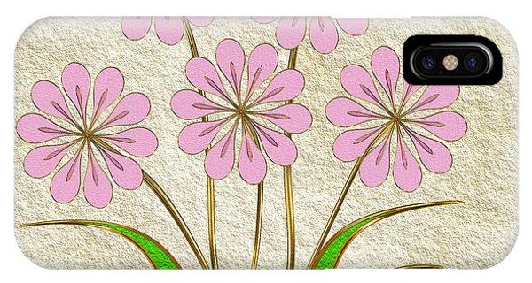 Digital Flowers #6 Phone Case by Pat Follett