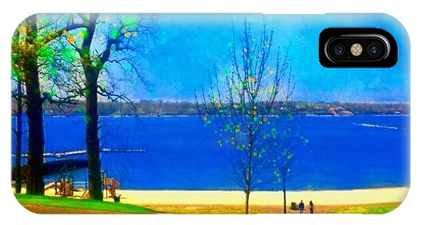 Scenic iPhone Case - #digitalart #landscape #beach #park by Robin Mead