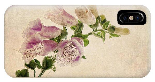 Digitalis Purpurea Aka Common Foxglove IPhone Case