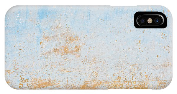 Dilapidated Beige And Blue Wall Texture IPhone Case