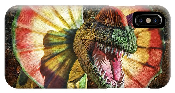 Dilophosaurus Spitting Dinosaur IPhone Case
