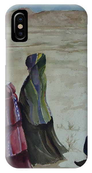 Dineh Leaving The Trading Post IPhone Case