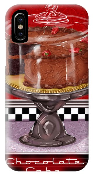 Diner Desserts - Chocolate Cake IPhone Case