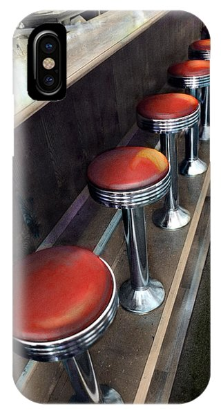 Diner Stools IPhone Case