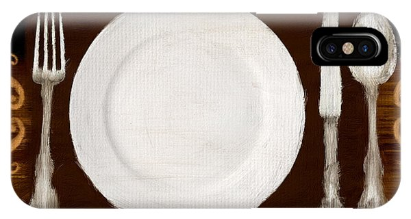 Fork iPhone Case - Dining Etiquette by Lourry Legarde