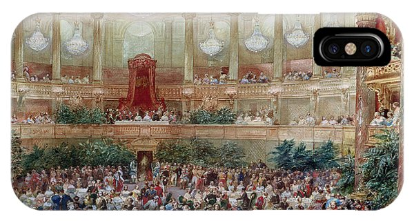 Dinner In The Salle Des Spectacles At Versailles IPhone Case