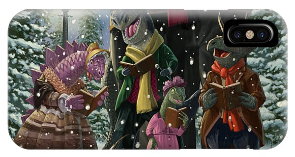 Dinosaur Carol Singers IPhone Case
